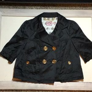 CUTE Juicy Couture Black Gold Jacket Bow